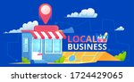 local seo banner  map and shop...   Shutterstock .eps vector #1724429065