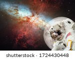 Spaceman Astronaut In Outer...