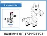 drawing worksheet for preschool ... | Shutterstock .eps vector #1724435605