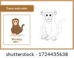 drawing worksheet for preschool ... | Shutterstock .eps vector #1724435638