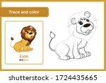 drawing worksheet for preschool ... | Shutterstock .eps vector #1724435665