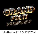 vector grand chic font. 3d... | Shutterstock .eps vector #1724444245