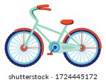 colorful cartoon bicycle ...   Shutterstock .eps vector #1724445172