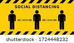 social distancing. keep the 2... | Shutterstock .eps vector #1724448232