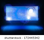 screen on stage. vector... | Shutterstock .eps vector #172445342