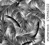 seamless black and white palm... | Shutterstock .eps vector #1724462122