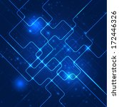 abstract technology blue... | Shutterstock . vector #172446326
