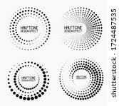Halftone Circular Dotted Frames ...