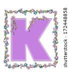 the letter k  in the alphabet... | Shutterstock . vector #172448858