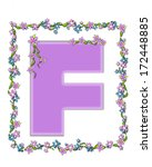 the letter f  in the alphabet... | Shutterstock . vector #172448885