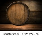 Background Of Barrel And Worn...