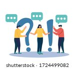 people characters standing near ...   Shutterstock .eps vector #1724499082