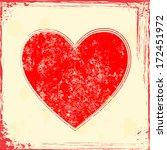 grunge heart  | Shutterstock .eps vector #172451972