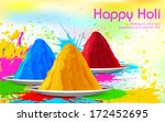 illustration of colorful gulal  ... | Shutterstock .eps vector #172452695
