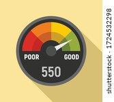 Power Credit Score Icon. Flat...