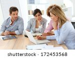 young business people in a... | Shutterstock . vector #172453568