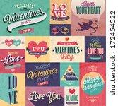 valentine s day set   labels ... | Shutterstock .eps vector #172454522