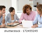 group of business people... | Shutterstock . vector #172455245