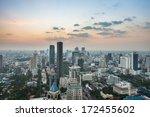 ariel view of downtown bangkok... | Shutterstock . vector #172455602