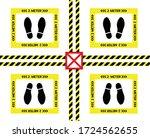 vector of footprint sign for...   Shutterstock .eps vector #1724562655
