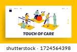 rehabilitation  disabled... | Shutterstock .eps vector #1724564398