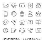 contact us line icons set... | Shutterstock .eps vector #1724568718