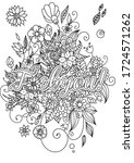 swear words coloring sheet with ... | Shutterstock .eps vector #1724571262