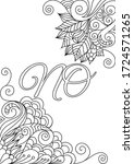 swear words coloring sheet with ... | Shutterstock .eps vector #1724571265