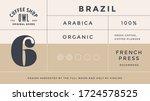 minimal label. typographic... | Shutterstock .eps vector #1724578525