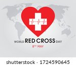 world red cross day  8th may...   Shutterstock .eps vector #1724590645
