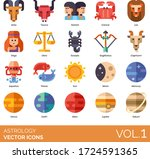 astrology icons including aries ...   Shutterstock .eps vector #1724591365