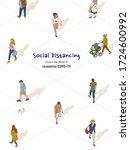 vector of social distancing... | Shutterstock .eps vector #1724600992