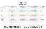 2021 calendar linear. vector.... | Shutterstock .eps vector #1724602375