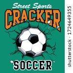 football t shirt print.  boys... | Shutterstock .eps vector #1724649355