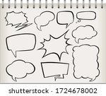 note with set of speech bubble... | Shutterstock .eps vector #1724678002