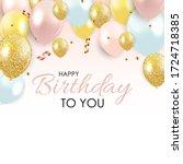 abstract happy birthday...   Shutterstock . vector #1724718385