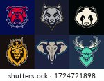 set of animal mascots with...   Shutterstock .eps vector #1724721898