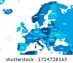 europe map   green hue colored... | Shutterstock .eps vector #1724728165