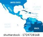 central america map   green hue ...   Shutterstock .eps vector #1724728168