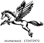 black and with pegasus flying. | Shutterstock .eps vector #172472972
