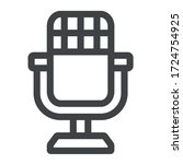 retro microphone black icon on... | Shutterstock .eps vector #1724754925