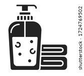 face wash gel icon. soap and...