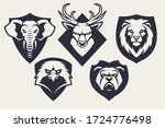 emblem design templates with... | Shutterstock .eps vector #1724776498