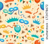 jewish holiday purim pattern.... | Shutterstock .eps vector #172478672