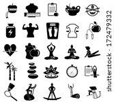 fitness icons | Shutterstock .eps vector #172479332
