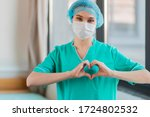 Nurse With Hands Heart Shape