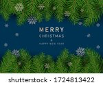 christmas decoration element.... | Shutterstock .eps vector #1724813422