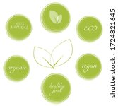 bio  ecology  organic logos and ... | Shutterstock .eps vector #1724821645