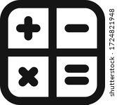 calculator vector flat line...   Shutterstock .eps vector #1724821948