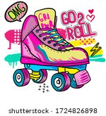 typography hand drawn cute... | Shutterstock .eps vector #1724826898